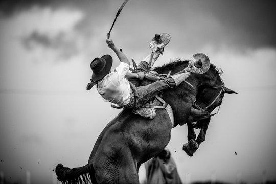Gaucho beim Rodeo