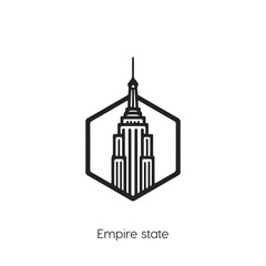 Empire states icon vector symbol. Empire States building symbol.