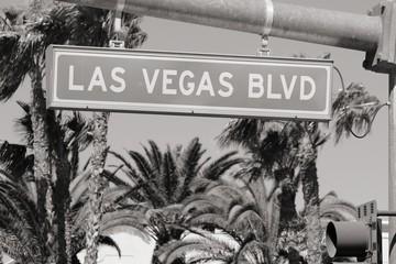 Papiers peints Las Vegas Las Vegas Blvd. Black and white vintage style.