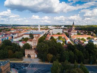 Blick zur Innenstadt von Neubrandenburg - am Trepower Tor