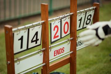 Lawn Bowling Scoreboard