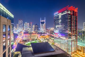 Fototapete - Nashville, Tennessee, USA downtown city skyline
