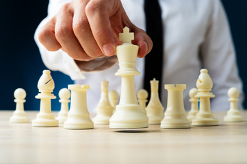 Business power and leadership concept