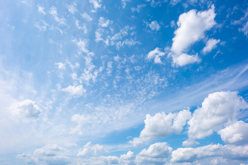 Blauer Himmel mit Wolken als Hintergrund