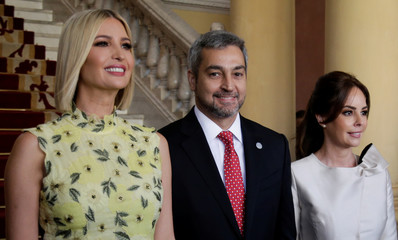 "White House adviser Ivanka Trump attends a ""Women's Global Development and Prosperity Initiative"" event at the Lopez Palace in Asuncion"