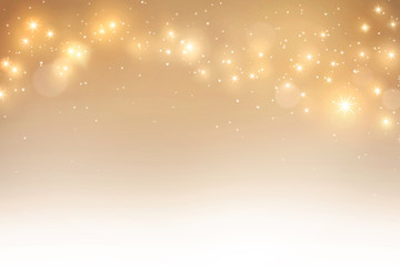 Elegant gold bokeh background