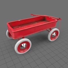 Retro toy wagon