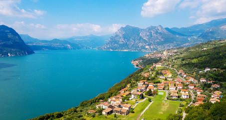 Lago D'Iseo (IT) - Monte Isola - vista aerea da Chiesa della Ceriola