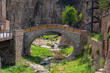 Arched bridge in the Legvtahevi gorge
