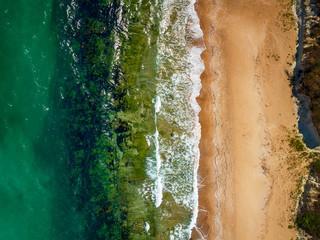 "Beautiful beach with family top aerial view""Driver beach"",Bulgaria"
