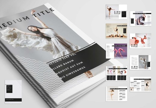 Minimalist Magazine Layout with Line Accents