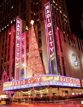 New York, USA; circa Nov 2011: Radio City Music Hall during the Christmas holiday period