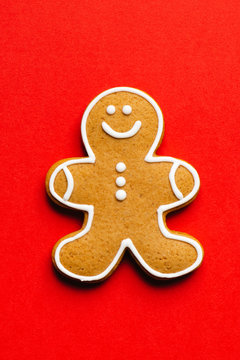 Gingerbread Man on red