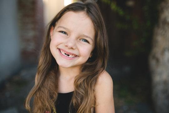 Beautiful toothless child