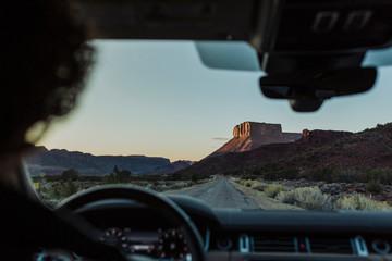 Adventurer man Driving