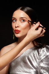 Makeup artist working in fashion industry