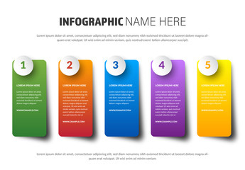 Info Chart Labels Layout with Bright Colors