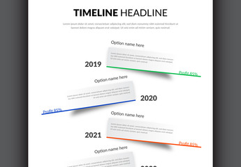 Vertical Timeline Layout with Six Options