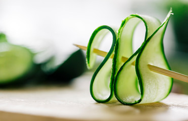 Artistic piece of cucumber