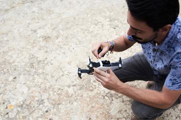 Repair broken drone.