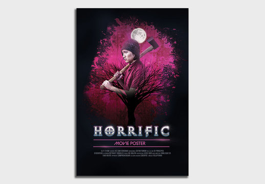Horror Movie Poster Layout