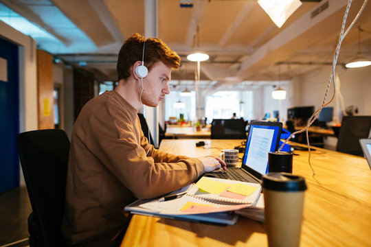 Young people working in a cool workplace.
