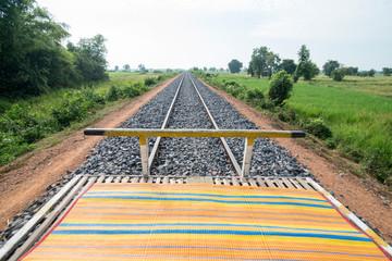 CAMBODIA BATTAMBANG BAMBOO TRAIN
