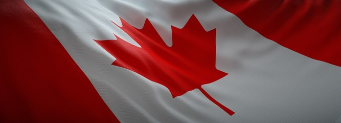 Deurstickers Rood paars Official flag of Canada. Web Banner