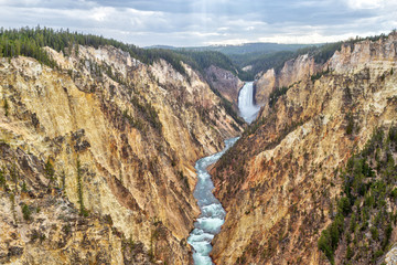 Lower Falls and Grand Canyon of the Yellowstone from Artist Point