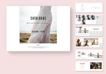 Black and White Catalog Layout