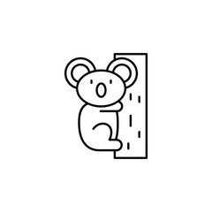 koala line icon. Element of jungle for mobile concept and web apps illustration.