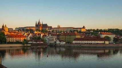 Wall Mural - View of Prague city skyline in Czech Republic.