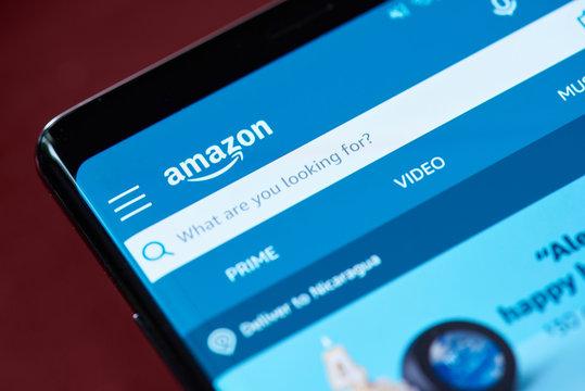 Amazon search menu