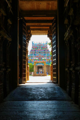 Fototapete - Beautiful Hindu God Jambukeswarar  Temple in Trichy