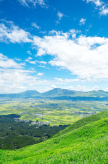 Wall Mural - 阿蘇五岳 大観峰からの眺め