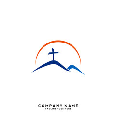 Church vector logo symbol graphic abstract template