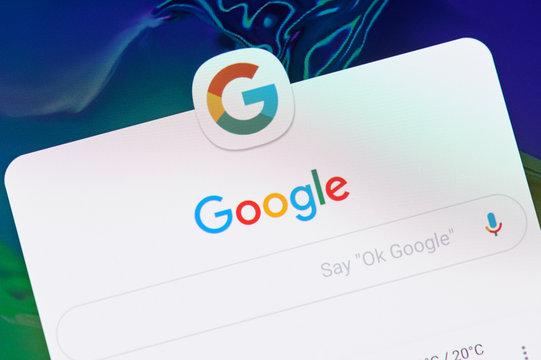 Google search application