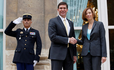 U.S. Defense Secretary Mark Esper meets French Defense Minister Florence Parly in Paris