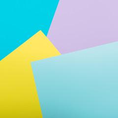 Pattern of geometric yellow, blue and pink background. Minimalism
