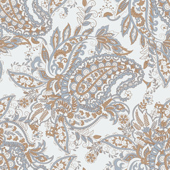 Vector Paisley pattern. seamless vintage floral background