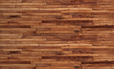 Small pieces of pine Arranged together into a beautiful wooden wall For interior decoration of buildings or floors and web backgrounds,Old wood wall texture , wooden background, brick Texture Banner