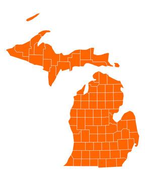 Karte von Michigan