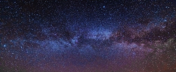 Night photos in the Ukrainian Carpathian Mountains with a bright starry sky and the Milky Way