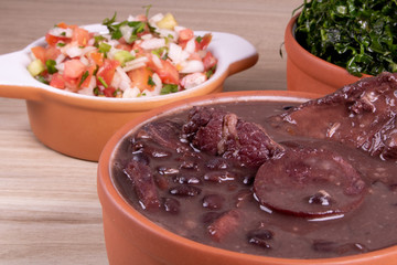 Brazilian feijoada kit with side dishes