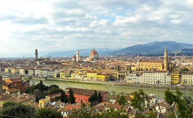 Door stickers Florence Beautiful view of Florence, Italy. Panorama of famous ancient Italian city in spring time.