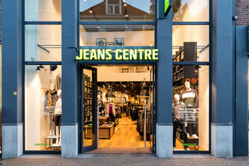 SNEEK, THE NETHERLANDS - NOVEMBER 2, 2018: Jeans Centre store. Jeans Centre is a Dutch fashion brand with nearly 100 stores and a web shop.
