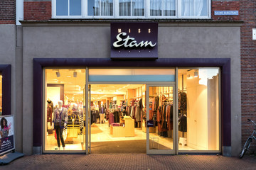 SNEEK, THE NETHERLANDS - NOVEMBER 2, 2018: Miss Etam branch. Miss Etam is a Dutch clothing retailer for women and has a history of more than 90 years.