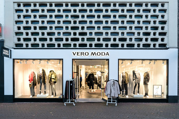 SNEEK, THE NETHERLANDS - NOVEMBER 2, 2018: Vero Moda branch. Vero Moda is a brand of Bestseller A/S is a privately held family-owned clothing company based in Denmark.