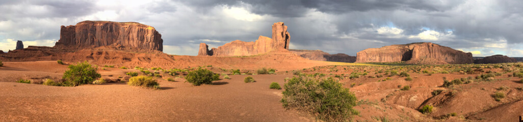 Foto op Canvas Arizona Panoramic view of Monument Valley National Park, USA
