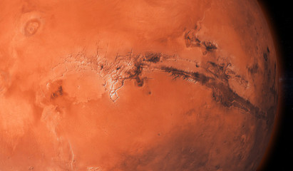 Colorful picture represents Mars - 3D illustration.